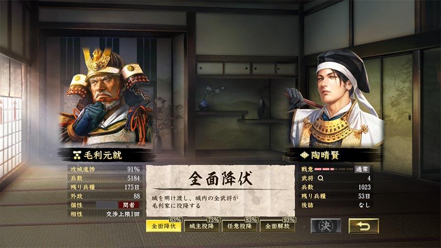 『信長の野望・大志 with パワーアップキット』交渉