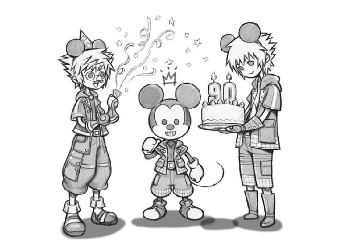ミッキー誕生日・野村哲也イラスト