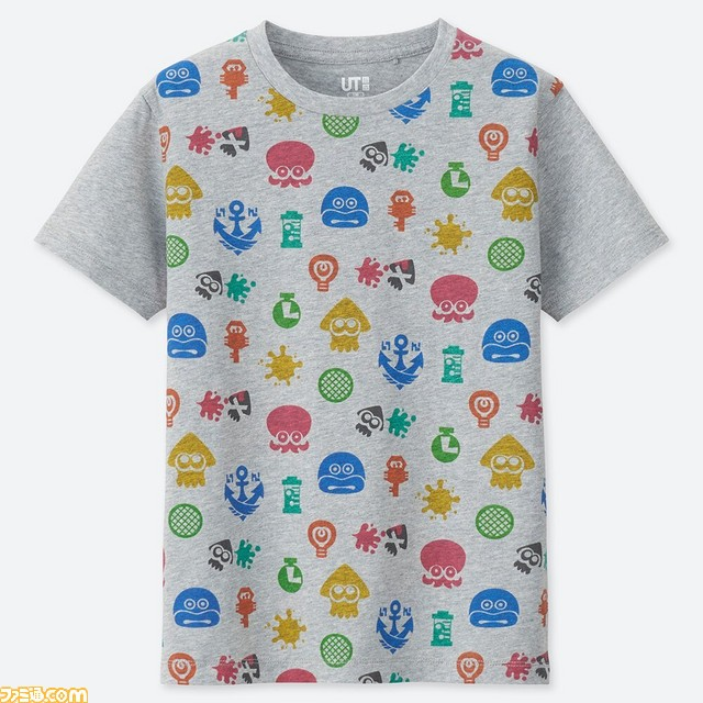 ユニクロ『スプラトゥーン』デザインTシャツ・キッズ用