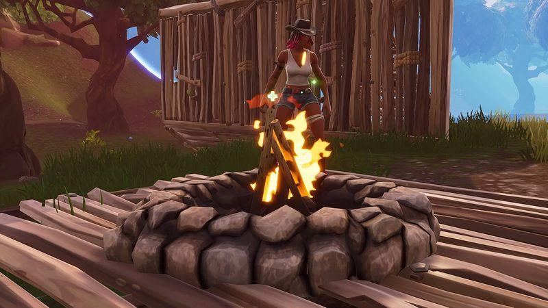 『フォートナイト』焚き火