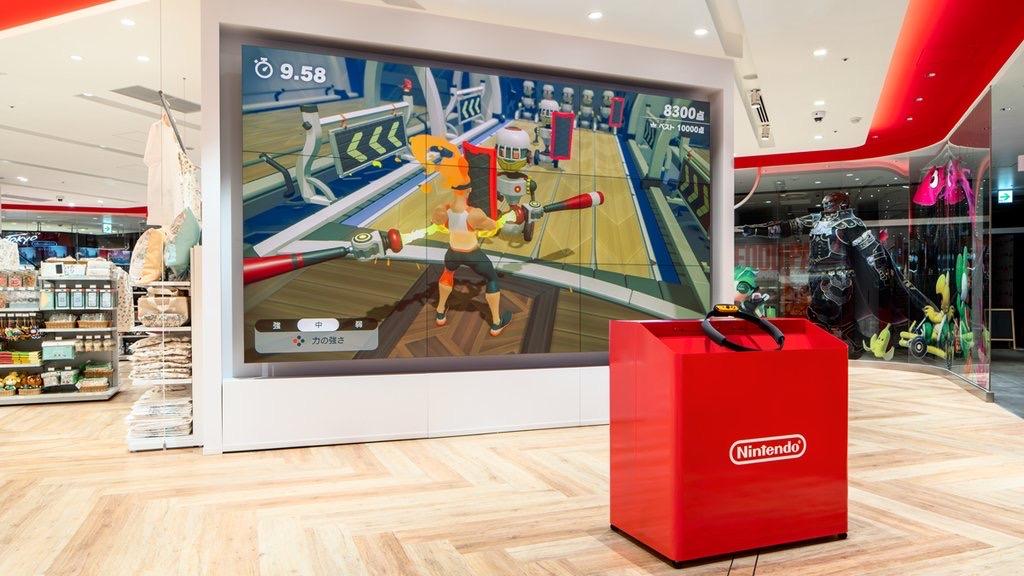 NintendoTOKYO巨大モニター