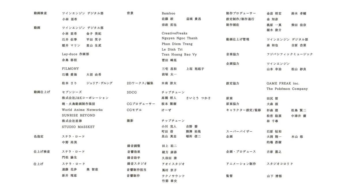 アニメ「薄明の翼」スタッフ2