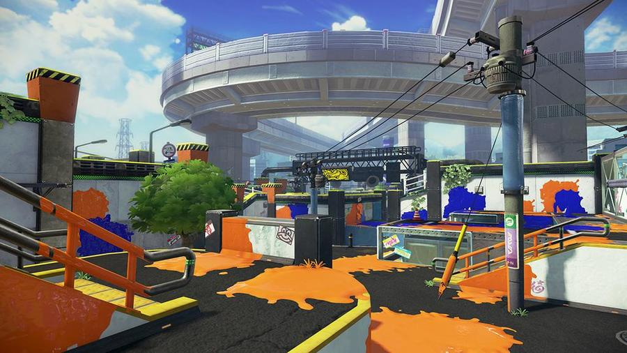 Wii U『スプラトゥーン』デカライン高架下