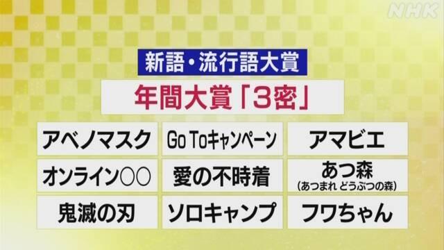 「2020ユーキャン新語・流行語大賞」トップ10